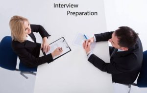 interview session and sitting position